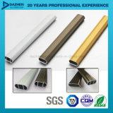 Profil en aluminium d'extrusion pour le tube s'arrêtant rond ovale de garde-robe