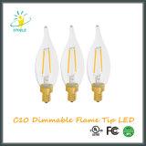 Ampola do diodo emissor de luz da decoração do Natal da iluminação de rua do filamento do diodo emissor de luz C10