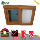 UPVC doppeltes glasig-glänzendes Fenster-Büro-schiebendes Fenster