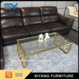 標準的な家具の金ワイヤー鋼鉄ガラス茶表