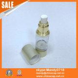 نوع ذهب خاصّة موزّع قشرة زجاجة مستحضر تجميل مع مضخة بيضاء