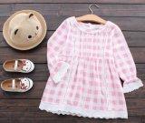 Merletto del vestito dal plaid delle ragazze dei capretti del pannello esterno di estate di modo dei vestiti dei bambini