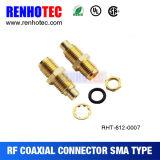 Type de soudure connecteur femelle de SMA pour le câble Rg316