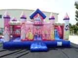 De hete Uitsmijter van de Prinses van de Verkoop Opblaasbare Roze, de Opblaasbare Uitsmijter en Dia Combo van de Prinses