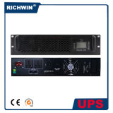 UPS en línea pura del montaje de estante de la onda de seno 6000va con la batería