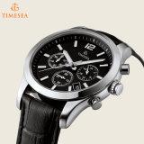 Horloge het van uitstekende kwaliteit van het Staal van het Kwarts met Horloge 72440 van het Leer