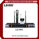 Microphone sans fil à canal double de radio du système fréquence ultra-haute du microphone Ls-993