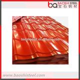 Da cor revestida da folha do telhado do zinco chapa de aço ondulada revestida
