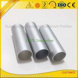 Profil rond en aluminium anodisé de pipe avec des tailles personnalisées