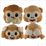 Cuscino di riempimento di Emoji della scimmia del nuovo cotone sveglio di disegno pp