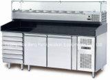 Réfrigérateur de refroidissement de Tableau de préparation de sandwich à ventilateur d'acier inoxydable