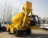 Caminhão de betão móvel com sistema de auto-carregamento