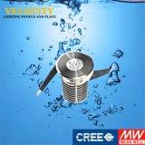 IP68 acero inoxidable LED de luz bajo el agua Cubierta