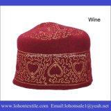 Wolle-Filz-Form-Stickerei-moslemischer Hut Vestigio Beanie-Hut