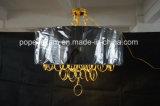 Iluminação chapeada do pendente do candelabro do ferro ouro decorativo (ka9022)