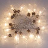 De berijpte Lichte Koorden van de Fee van de Kruik van de Batterij van het Glas