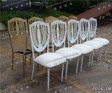 백색 쌓을수 있는 이동할 수 있는 시트 Cuhion (YC-A278)를 가진 금속에 의하여 이용되는 연회 의자