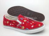女性の標準的なズック靴の加硫させたゴム製靴