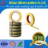 Cinta adhesiva de alta adhesiva de papel crepé para fines industriales