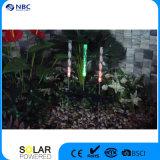 Lumière solaire acrylique de bâton de jardin de pré de jardin avec le panneau solaire