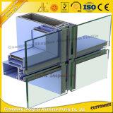 Pared de cortina de aluminio del diámetro grande del OEM para la puerta de la ventana de aluminio