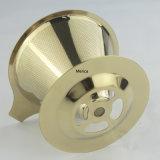 ステンレス鋼304の薄い金コーヒーDripper