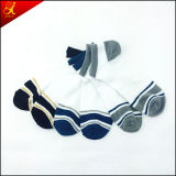 Mann-niedrige Socken-fertigen einfache Form-Art Knöchel-Socke kundenspezifisch an