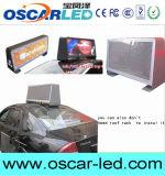 Visualización 3G Asychronous LED de P2.5mm P5mm P6mm del taxi del alto brillo de la azotea de LED superior sin hilos de la muestra/del taxi