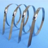 ストラップを束ねるステンレス鋼ケーブル