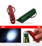 Электрофонарь Keychain металла многофункционального цветастого электрофонаря консервооткрывателя бутылки OEM выдвиженческий