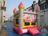 Aufblasbare Karikatur-federnd Schloss, springender Prahler, springendes Haus
