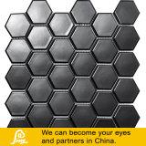 Diseño hexagonal del mosaico de cerámica negro de la piscina