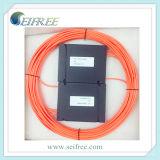 Multi accoppiatore/divisore della fibra del contenitore di ABS di modo 1*3