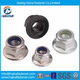 Roestvrij staal/de Nylon Noot van de Flens van het Staal, Nylon Noot, de Noot van GLB, Vleugelmoer