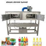 Máquina de embalaje del túnel del encogimiento del vapor de la etiqueta del animal doméstico del PVC para las botellas plásticas