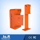 Datenbahn-Emergency Telefon, schroffer Hilfen-Punkt, Straßenrand VoIP Telefon