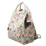 Deux tailles imperméables à l'impression Patterns Canvas Lady Backpack (99239)