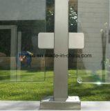 Morsetto di vetro del quadrato dell'acciaio inossidabile per la balaustra di vetro dell'inferriata