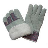 Зимы тумака затира кожи подкладки горжетки перчатки работы полной теплые для Rigger