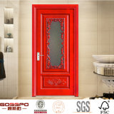South Indian Front Carving Glass Wood Door Design (GSP3 - 006)