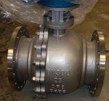 Válvula de esfera montada eixo da conexão da flange com volante