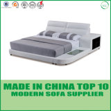 Base de cuero gris de los nuevos de la llegada de dormitorio del conjunto muebles del dormitorio