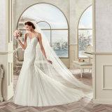 Высокое качество связывает платье венчания 2017 Mermaid Tulle Appliques шнурка