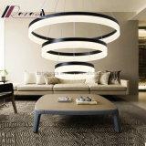 Grande cerchio moderno LED che appende illuminazione Pendant per l'hotel