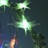 RGB 건전지에 의하여 운영하는 잠자리 끈 요전같은 빛 10의 LEDs