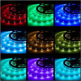 color impermeable de los 5m SMD 5050 RGB que cambia la tira flexible del LED
