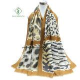 Новая повелительница Шарф способа с напечатанной леопардом шалью сатинировки