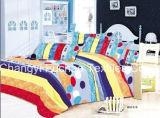 De kleurrijke Textiel van het Beddegoed van het Blad van het Bed van Microfiber van het Bamboe van het Patroon van de Bloem Duidelijke Geverfte Goedkope Vastgestelde Vastgestelde naar huis