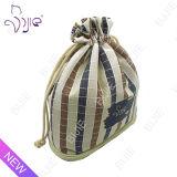 Sac cosmétique de coton de plaid de qualité pour le module de cadeau