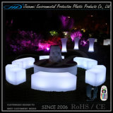 Factory Direct Price Rechargeable LED Furniture avec du matériel LLDPE.